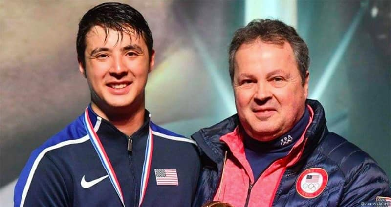 Photo of Alexander Massialas  & his  Father  Greg Massialas