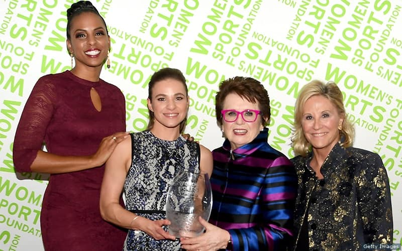 LaChina Robinson, Oksana Masters, Billie Jean King and Donna de Varona at the Women's Sports Foundation's 39th Annual Salute to Women in Sports ceremony.