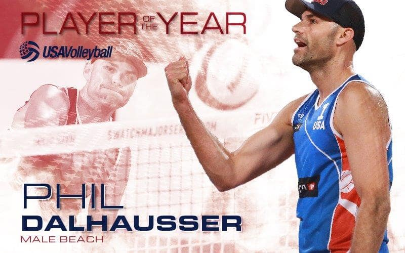 USAV Male Beach Player of the Year Phil Dalhausser