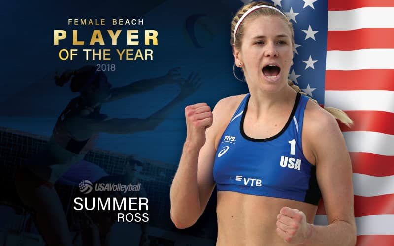 Female Beach Volleyball Player of the Year Summer Ross