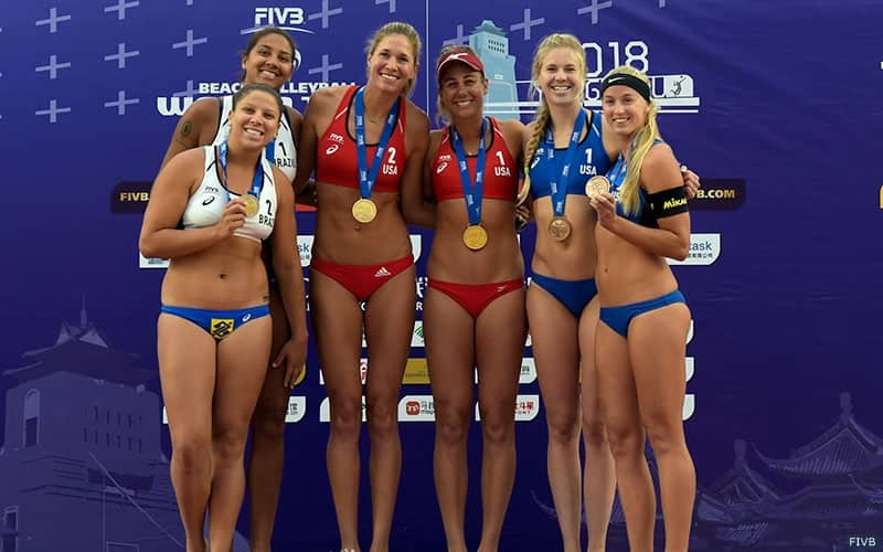 Podium at the FIVB four star in Yangzhou