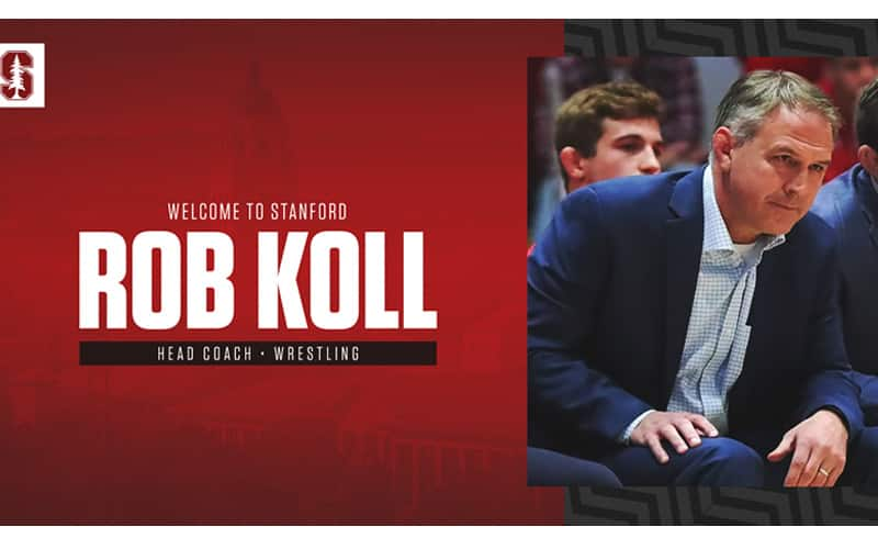 Former UNC National Champion Rob Koll Named Stanford Head Wrestling Coach