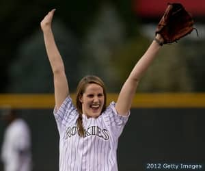 Missy Franklin at the Colorado Rockies