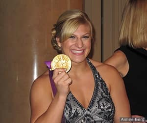 Kayla Harrison at the Women's Sports Foundation