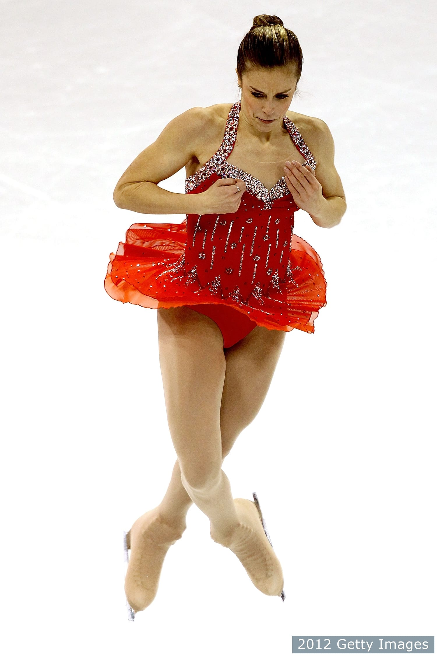 Ashley Wagner competes