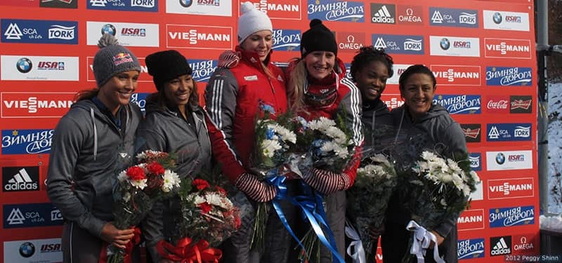 Bobsled podium