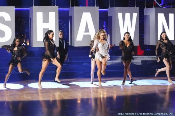 Shawn Johnson, Gabby Douglas, Aly Raisman, Jordyn Wieber, McKayla Maroney, Kyla Ross on Dancing with the Stars