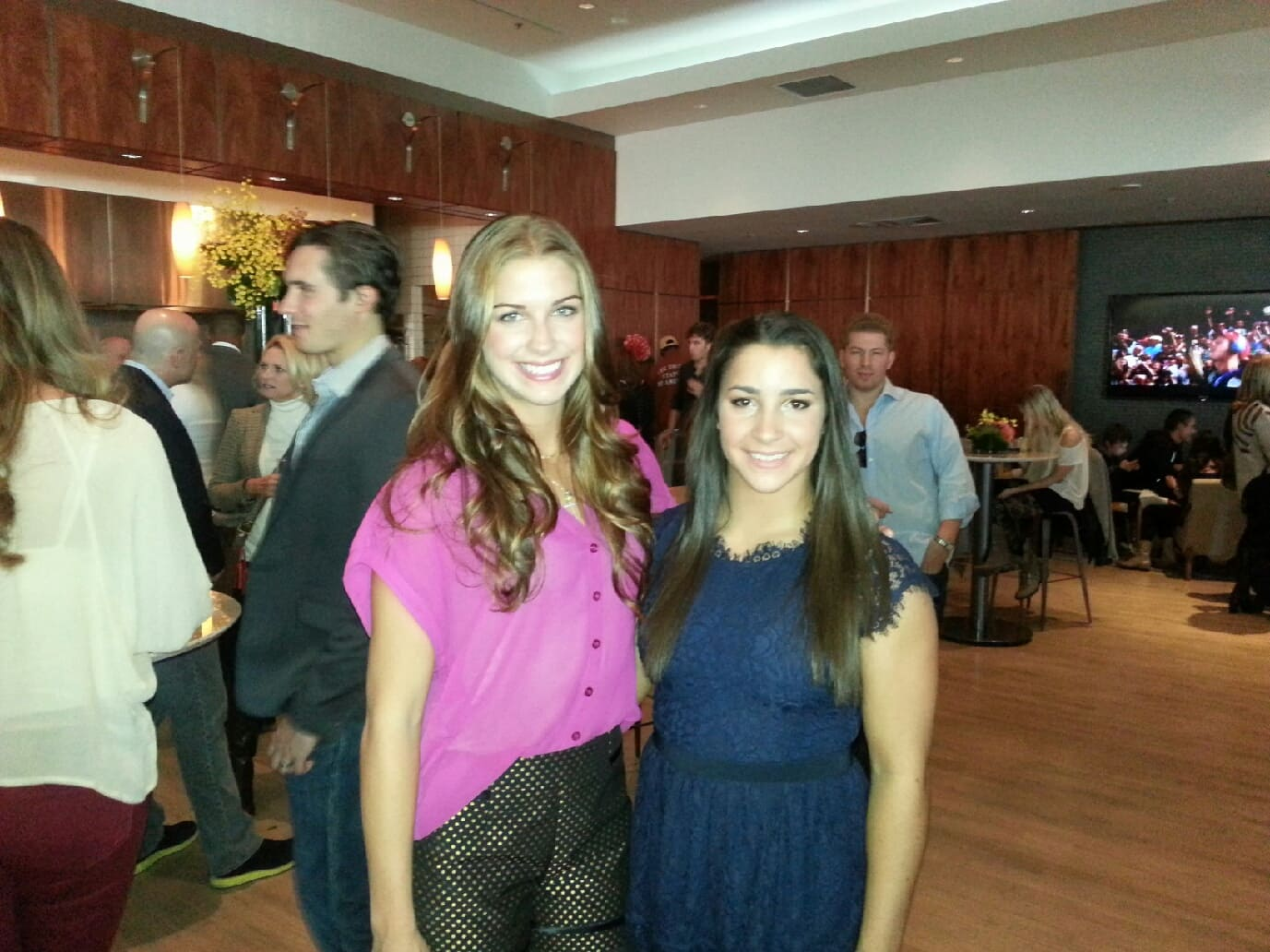 Aly Raisman and Alex Morgan at Golden Globes