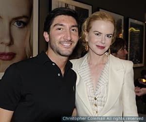 Nicole Kidman and Evan Lysacek at Golden Globes