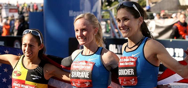 Desiree Davila, Shalane Flanagan, Kara Goucher