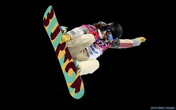 Kelly Clark competes in Sochi