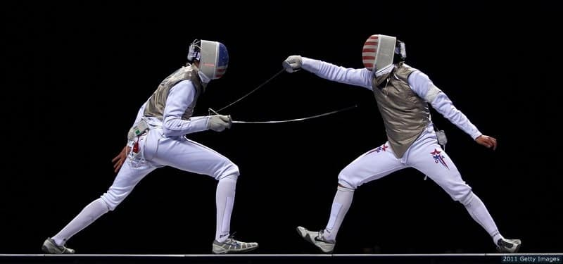 USA fencing bout