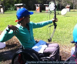 Miami-Dade Parks and Recreation (Paralympic Sport Club Miami) offers archery among other sports