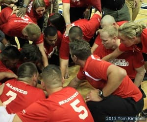 Marines defeated Army 25-21, 25-21 for the gold medal in sitting volleyball at the 2013 Warrior Games presented by Deloitte