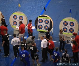 Archery competition at the 2013 Warrior Games presented by Deloitte