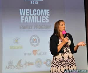 Misty May-Treanor spoke at the Family Program Welcome Reception