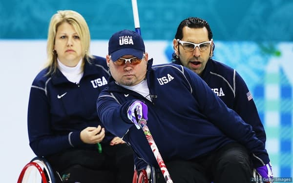 U.S. wheelchair curling against Slovakia