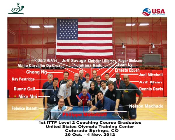 USA Table Tennis Coaching Level 2 Course