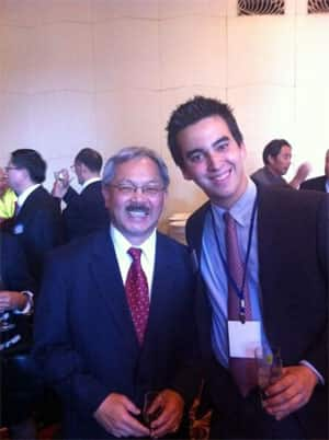 Mayor of San Francisco Edwin Lee and Jacob Deitcher